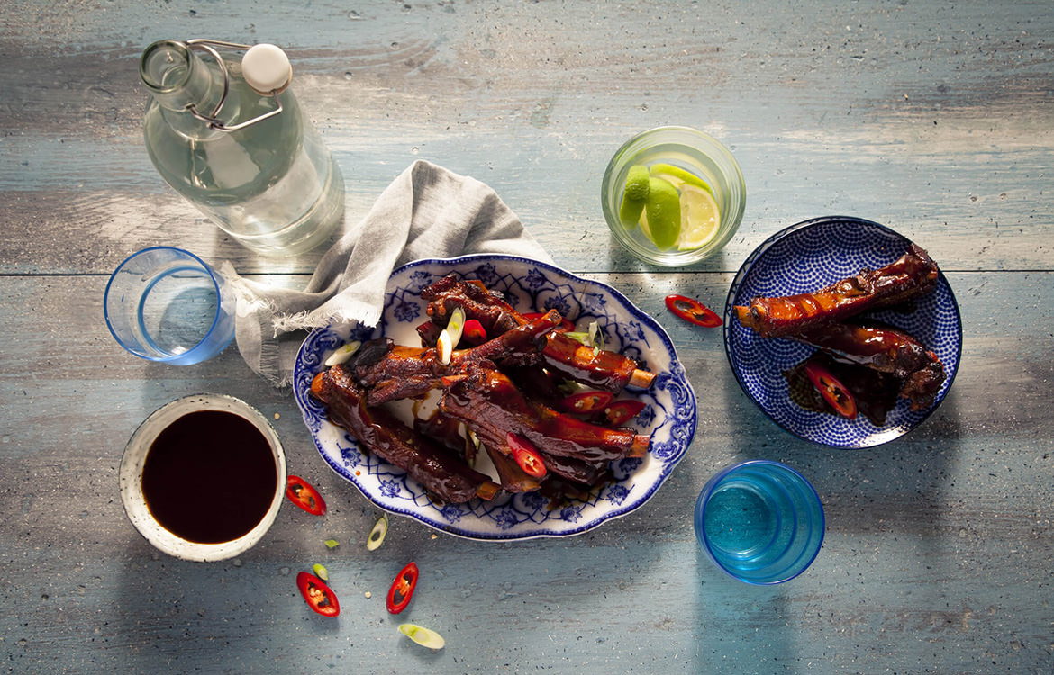 Slow cooker sweet chilli thai ribs